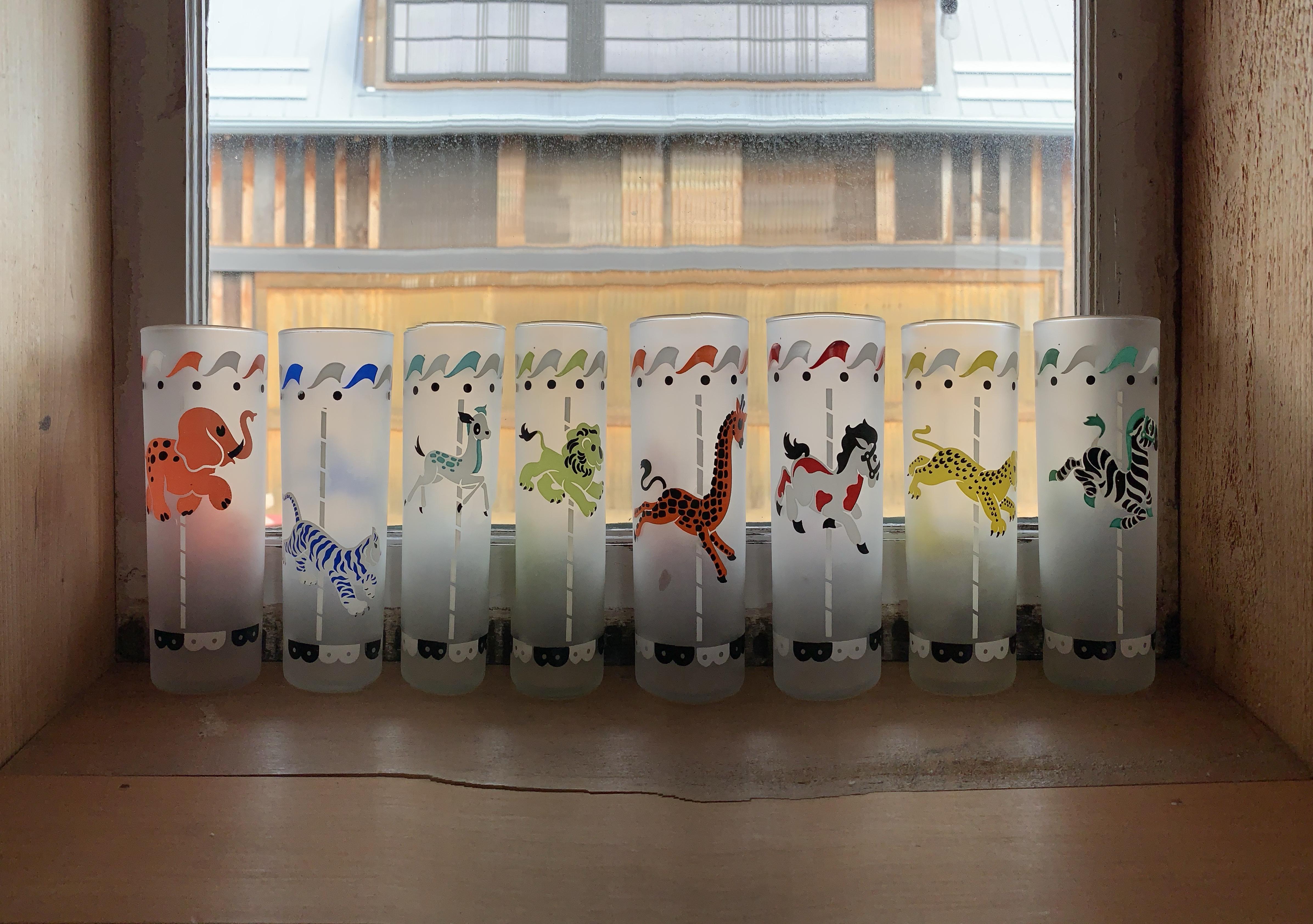 Retro Circus Glass Set