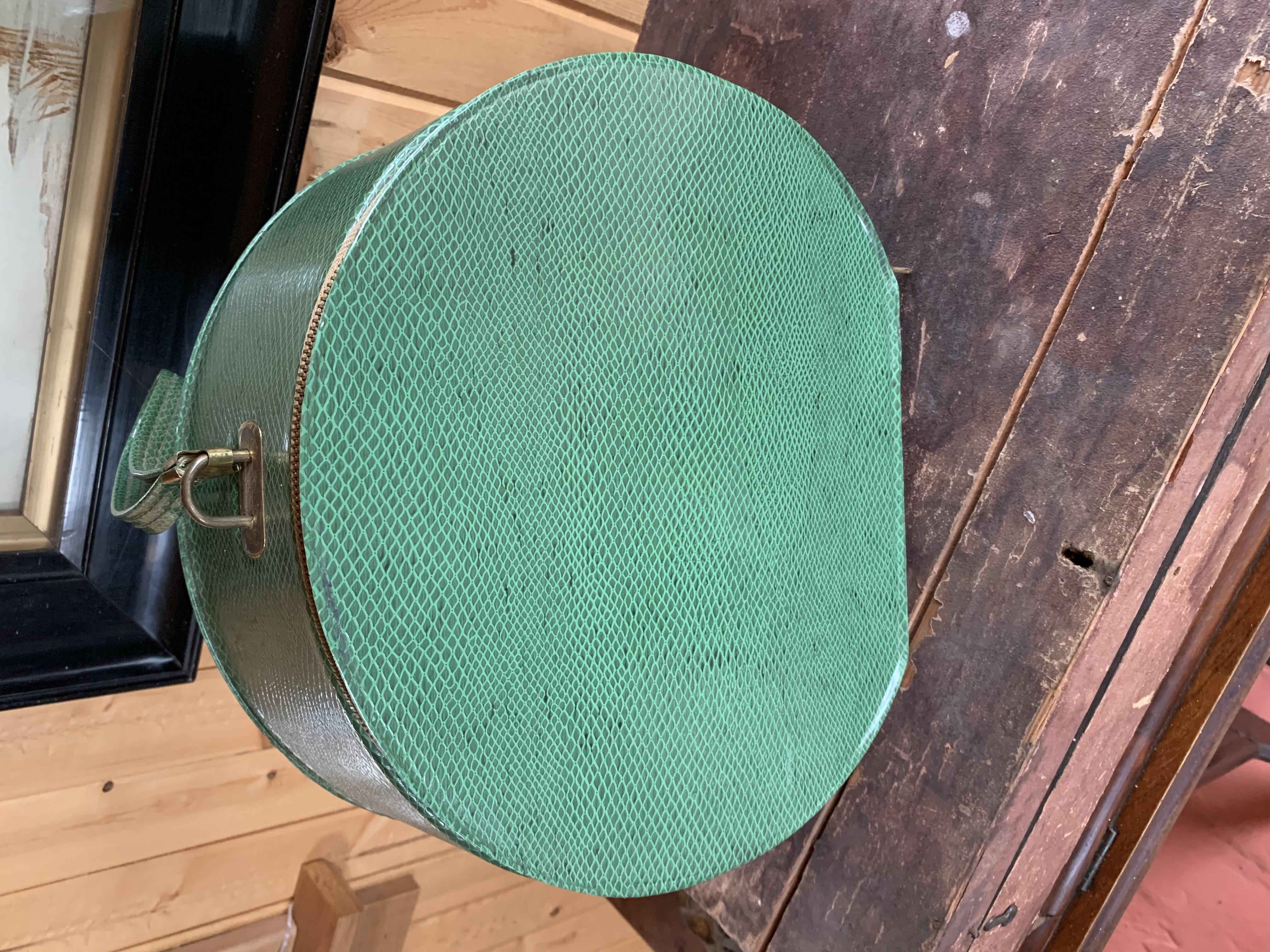 Retro Green Hat Box