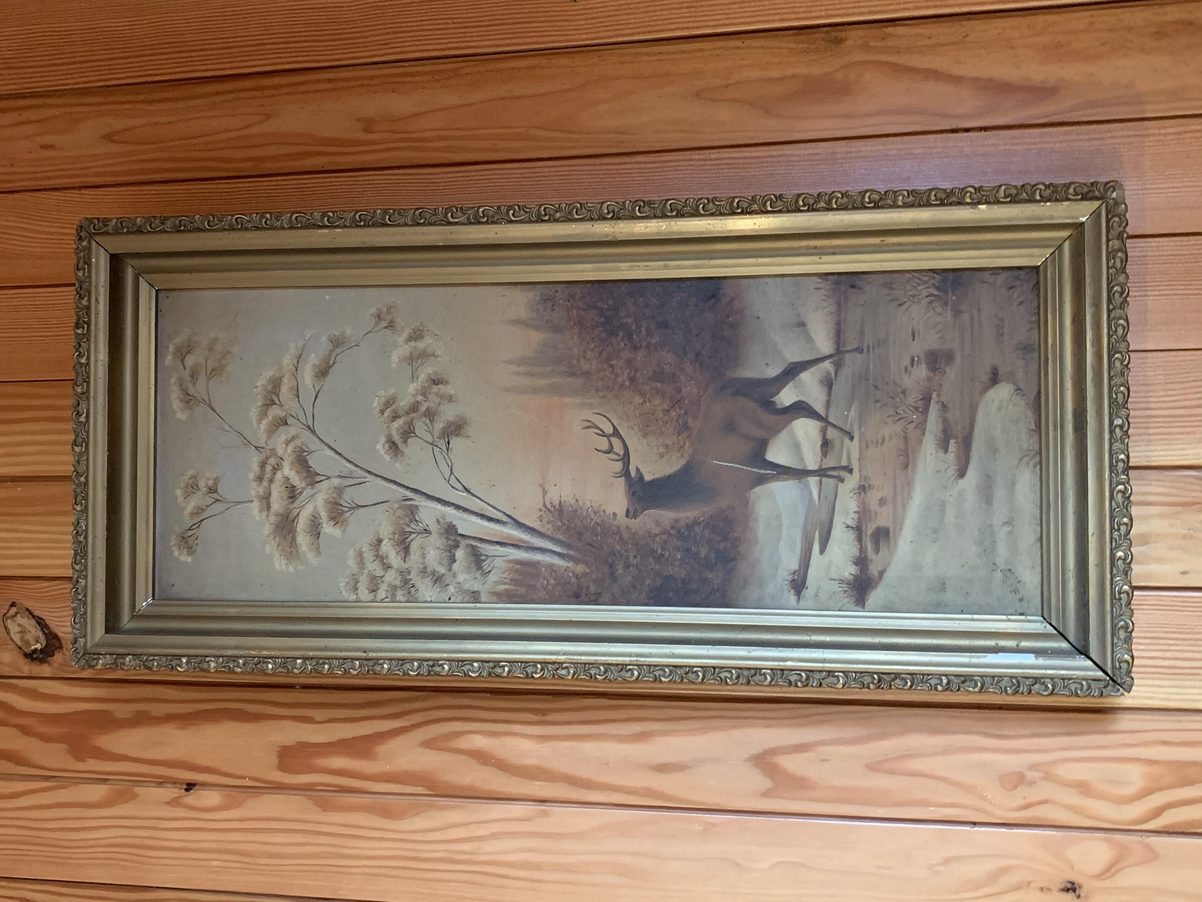 Elk in Gold Framed Set