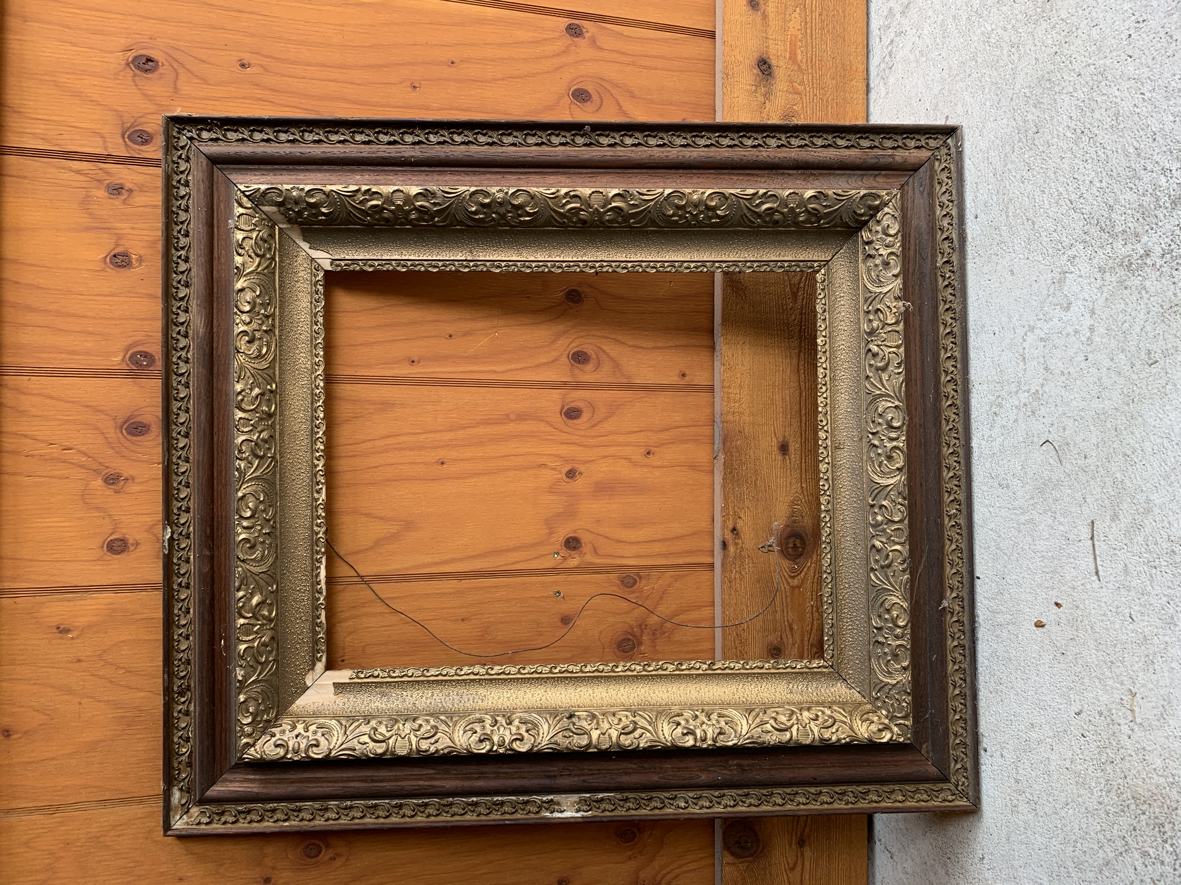 Old and Gold Coloured Frame