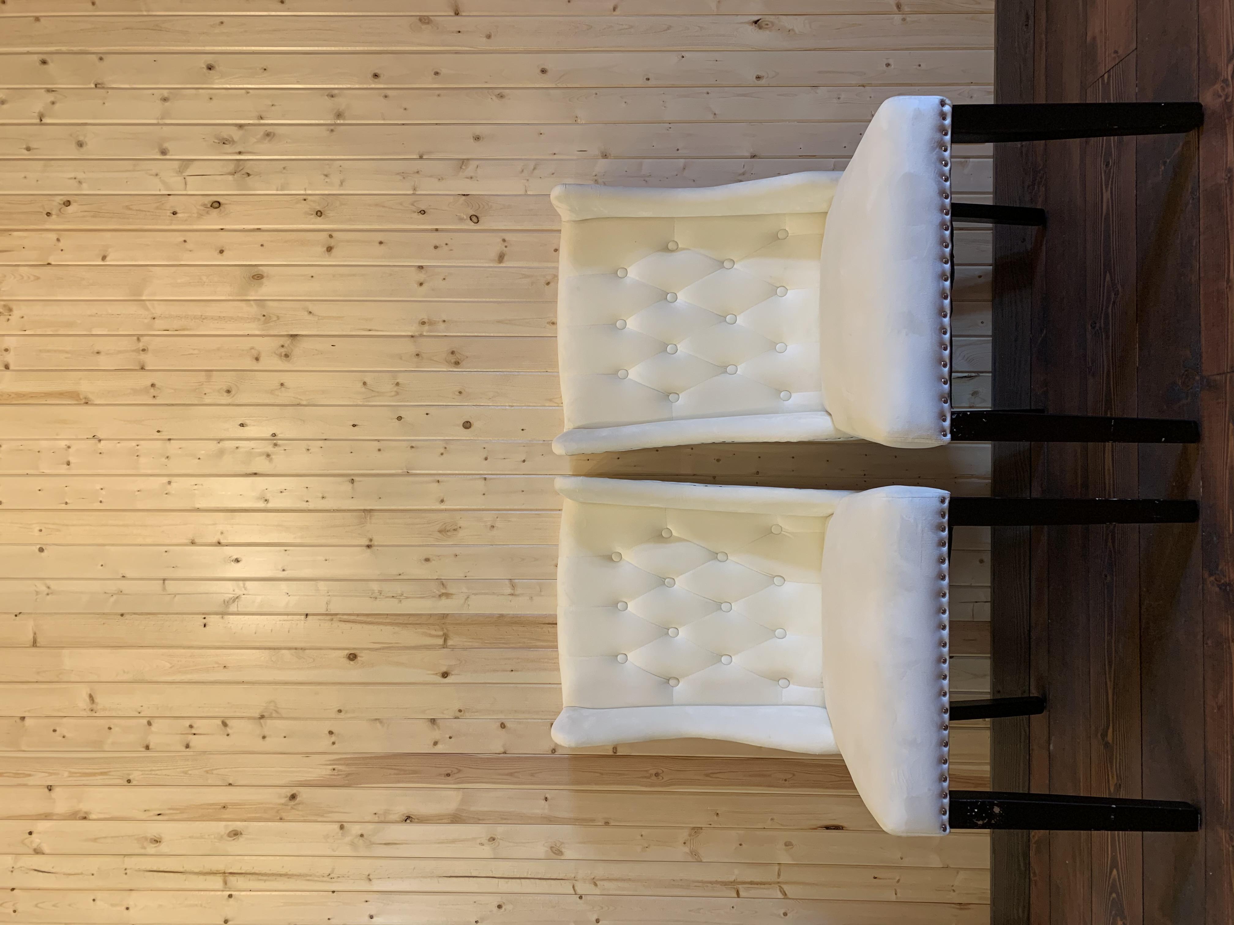 White Microfibre Chairs